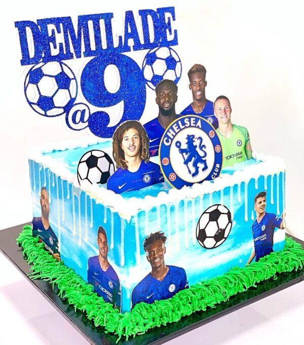 Awesome Chelsea Themed Cake Nectar Personalised Birthday Cards Veneteletsinfo